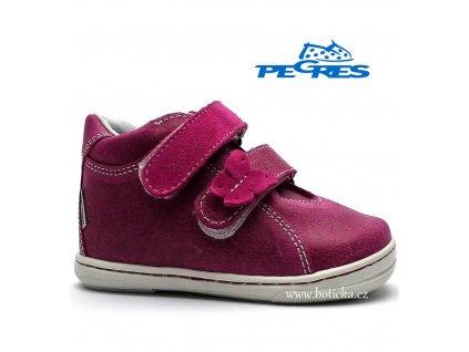Dětské boty PEGRES 1404 růžové
