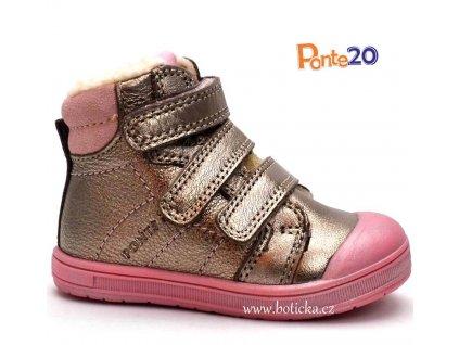 Ponte zimní obuv DA03 zlatorůžové