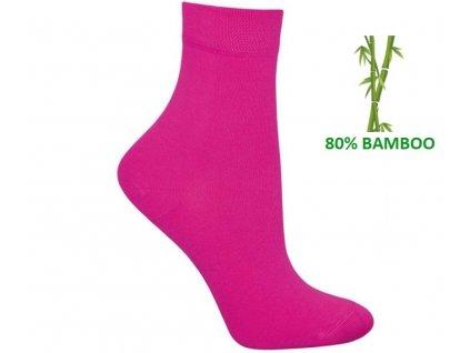 Bambusové ponožky Tuptusie fuxia