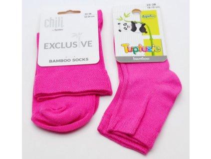 Bambusové ponožky Tuptusie růžové