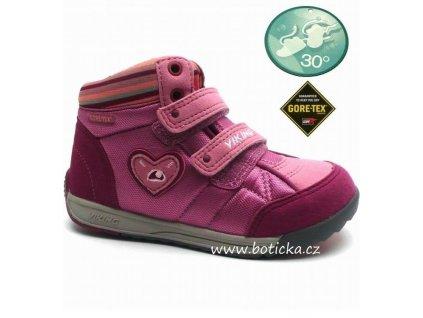 Dětské boty VIKING 3-42350 rose/charcoal