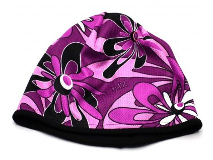 Zimní čepice funkční RDX 3478 Květy 13