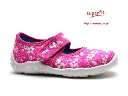 SUPERFIT bačkory 2-00283-64 pink kombi