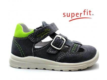 SUPERFIT sandále 2-00430-44 smoke kombi