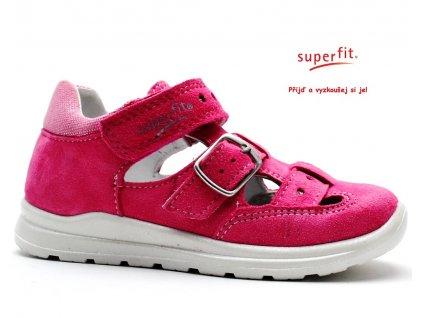 SUPERFIT 2-00430-64 pink kombi Dětské sandále