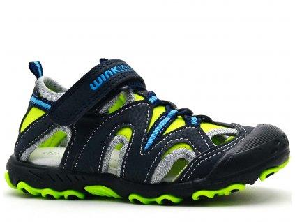 Sandále trekové WINK ECO SG81807 černozelené