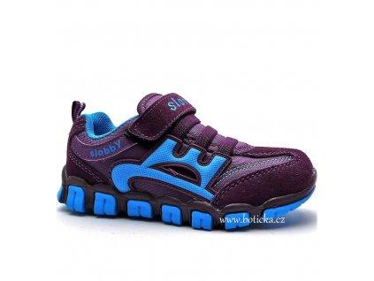 SLOBBY 47-0435 fialovomodré botasky