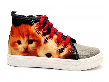 Tenisky dívčí WIKI Kočka