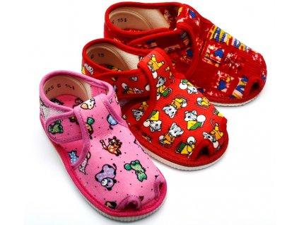 Bačkory dívčí HP Čechtín 805 sandál, suchý zip