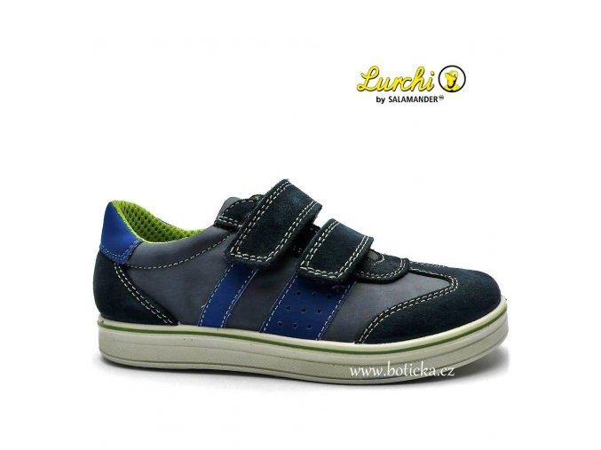 LURCHI obuv 33-18619 modrošedé