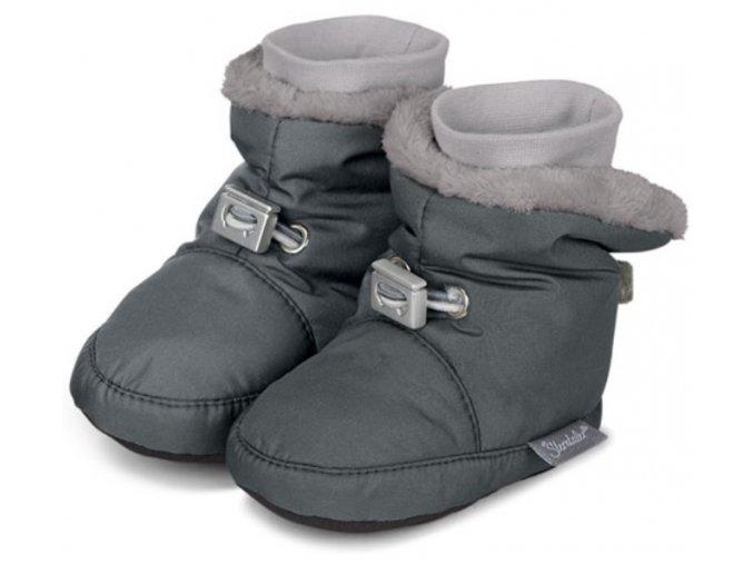 Teplé botičky utahovací STERNTALER šedé