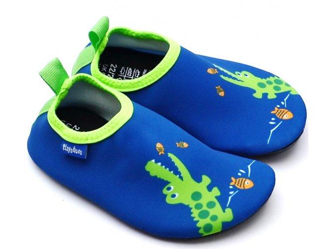 Barefoot boty do vody Playshoes 174906 krokodýl