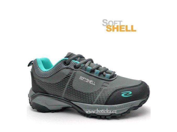 EXTREME softshell obuv 683614 šedé