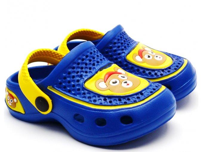 Slobby 49-0009 Eva clogs pantofle modré