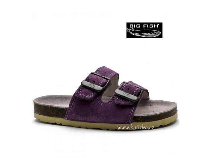 Pantofle BIG FISH FO-213--11-01 fialové