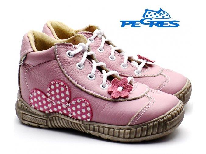 Dětské boty PEGRES 1401 růžové