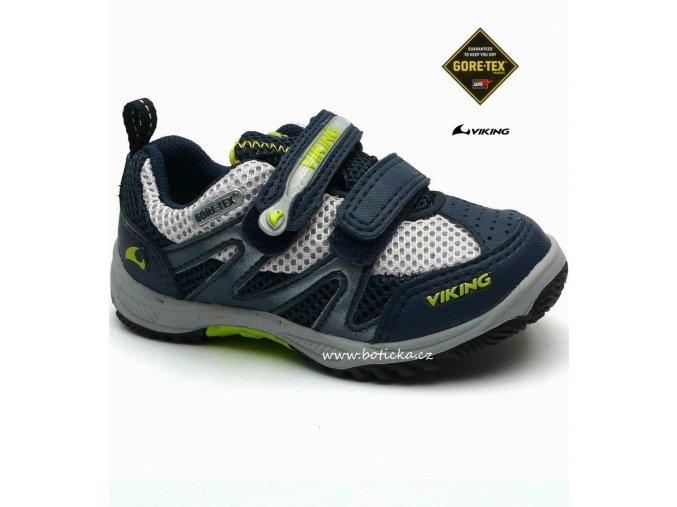 VIKING obuv 3-40230 navy/lime