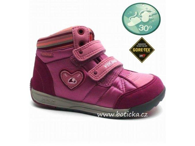 VIKING obuv 3-42350 rose/charcoal