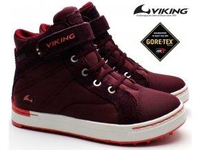 Dětské boty VIKING 3-47030 4151 Sagene Wine/Coral