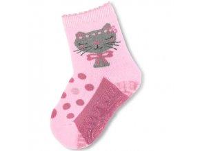 Protiskluzové ponožky STERNTALER 8141810 kočka