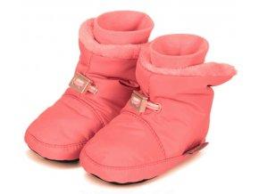 Teplé botičky utahovací STERNTALER růžové