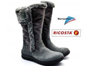Dívčí kozačky RICOSTA HALEY 80286-496 šedé