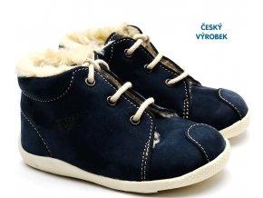 Zimní capáčky VELETA 027 tm. modré