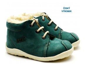 Zimní capáčky VELETA 027 tm. zelené