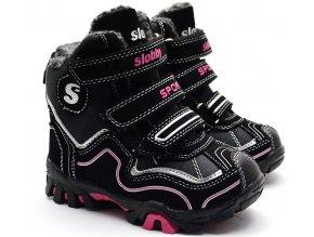 Zimní boty SLOBBY 46-0302 černorůžové