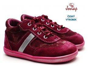 Dětské boty JONAP 051/S maskáč vínové