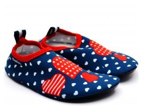 Barefoot boty do vody Playshoes 174911 srdce
