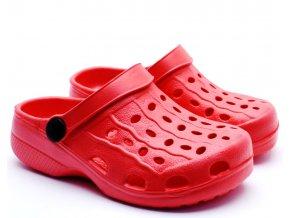 Play shoes Eva Clogs pantofle červené