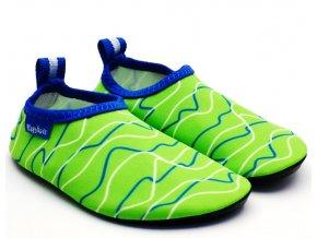 Barefoot boty do vody Playshoes 174909 zelené