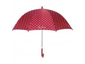 Dětský deštník Playshoes červený s puntíky