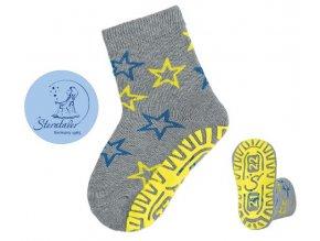 STERNTALER 8031902 Protiskluzové ponožky šedé hvězdy