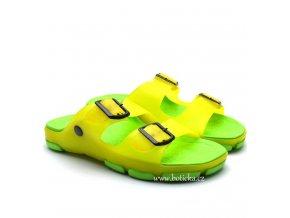 Pantofle SCANDI 58-0037 zelené