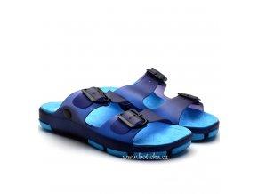 Pantofle SCANDI 58-0037 tm. modré