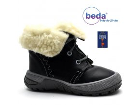 BOTY BÉĎA zimní obuv MB 0004 tm. modrá