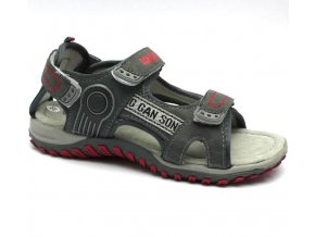 MAGNUS sandále 45-0459-T6 šedé