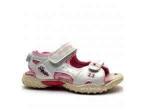SLOBBY sandále 45-0565 bílorůžové