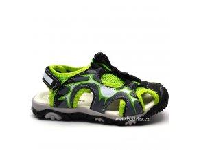 FAST sandále 833702 černozelené