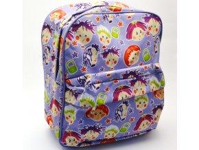 Dívčí batůžek BENZI 2938 hlavičky fialové