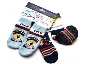Protiskluz. ponožky BOMA 4284121 modré
