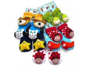 Cinkací ponožky BABYS 5226 hvězda
