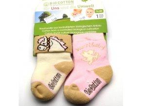 Biobavlněné ponožky SOCKSWEAR růžové
