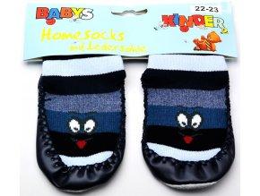 Ponožky s kůží BABYS 3140 modrá očička