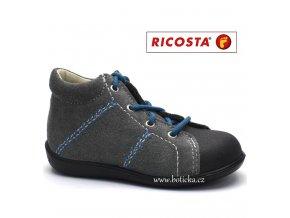 Dětské boty RICOSTA 18266-456 Preppy šedé
