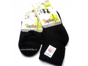 Bambusové ponožky Tuptusie černé