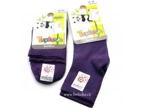 Bambusové ponožky Tuptusie fialové