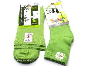 Bambusové ponožky Tuptusie zelené